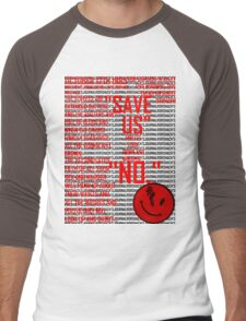 Rorshach's  Journal Typography Men's Baseball ¾ T-Shirt