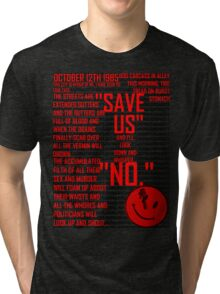 Rorshach's  Journal Typography Tri-blend T-Shirt