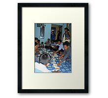 Family Dinner - Sui Sui Framed Print
