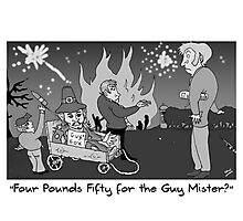 Currie and Balerno News November 2011 Cartoon Photographic Print