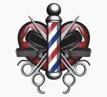 Heart Barbers One Piece - Short Sleeve