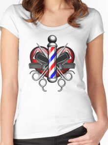 Heart Barbers Women's Fitted Scoop T-Shirt
