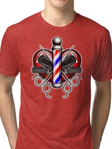 Heart Barbers Tri-blend T-Shirt