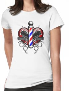 Heart Barbers Womens Fitted T-Shirt
