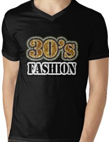 Vintage 30's Fashion - T-Shirt Mens V-Neck T-Shirt