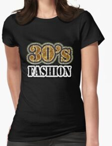 Vintage 30's Fashion - T-Shirt Womens Fitted T-Shirt