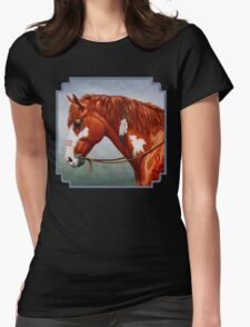 Native American War Horse Womens Fitted T-Shirt