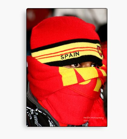 Spanish Supporter Soccer world cup 2010 Canvas Print