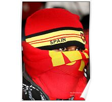 Spanish Supporter Soccer world cup 2010 Poster