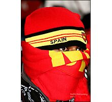 Spanish Supporter Soccer world cup 2010 Photographic Print