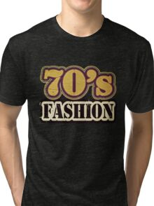 Vintage 70's Fashion - T-Shirt Tri-blend T-Shirt