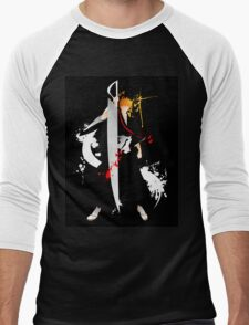 Bleach: Ichigo Kurosaki Giclee Art Print Men's Baseball ¾ T-Shirt