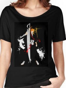 Bleach: Ichigo Kurosaki Giclee Art Print Women's Relaxed Fit T-Shirt