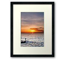 Fisherman at Sunrise Framed Print
