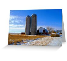 Winter on the Farm ! Greeting Card