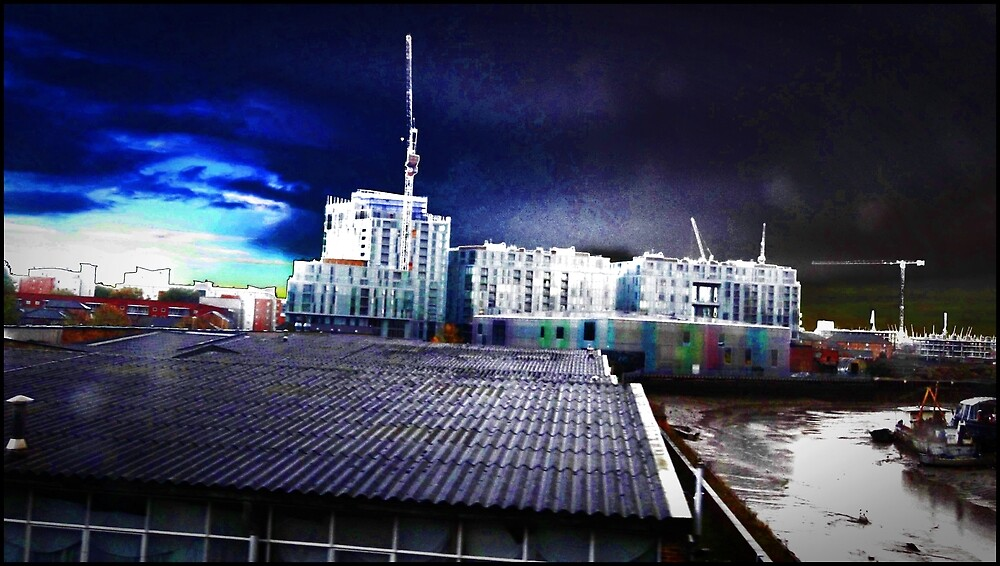 postmodernism in a  psychedelic gothic sky by charliethetramp