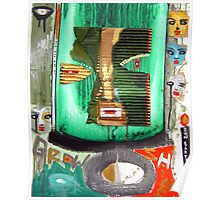 green man war mask for earth Poster