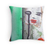 green man war mask for earth 7 Throw Pillow