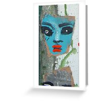 green man war mask for earth 14 Greeting Card