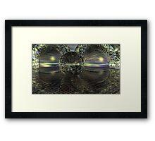 Cyber Aeon Darkly Framed Print