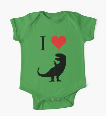 I Love Dinosaurs - T-Rex One Piece - Short Sleeve