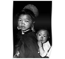 Hmong Girl & Baby Poster