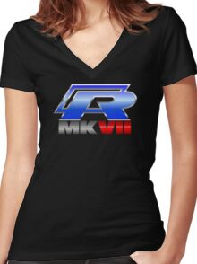 VW R MK7 Icon Women's Fitted V-Neck T-Shirt