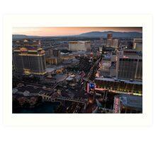 Las Vegas Sunset Art Print
