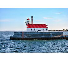 Duluth Harbor South Breakwater Outer Lighthouse  Photographic Print