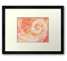 Pink Swirl Abstract Painting Framed Print