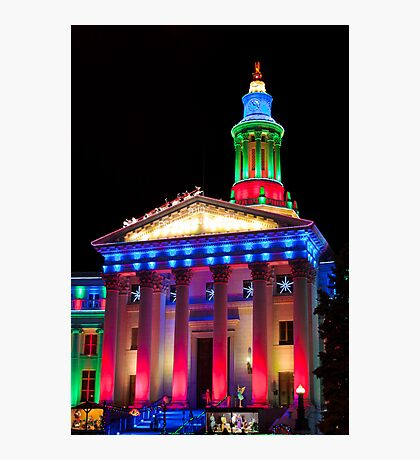 Denver City and County Building at Christmas Photographic Print