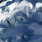 Ice Formations on the Argentiere Glacier by John Gaffen