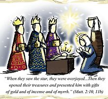 Magi Christmas Card by superferretIX