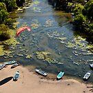 Lagoon Landing by Aaron  Cromer