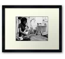 A Mother's Love - Andrew Framed Print