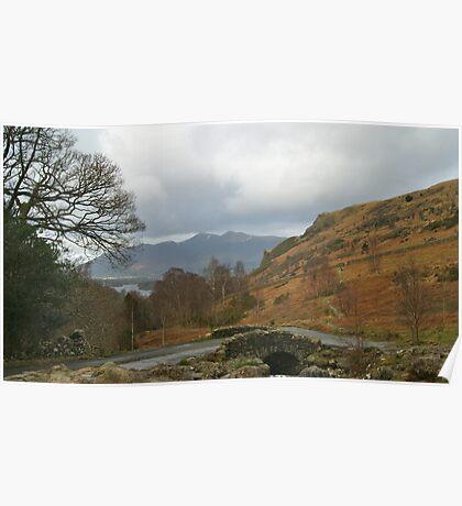 Ashness Bridge Borrowdale (Lake District National Park) Poster