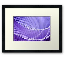 Purple Abstract Wall Art Framed Print