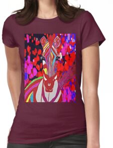 I Dreamed About A Red Zebra Womens Fitted T-Shirt