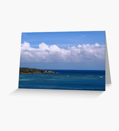 Crossing the Blue Greeting Card