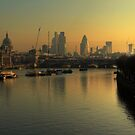 London Sunrise from Waterloo Bridge by Martin Griffett