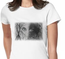 Mysterious Female Womens Fitted T-Shirt
