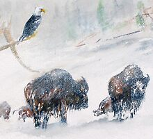 Yellowstone - Deep into Winter by Rob Beilby