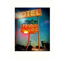 The Tradewinds Motel Art Print