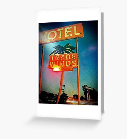 The Tradewinds Motel Greeting Card