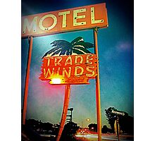 The Tradewinds Motel Photographic Print