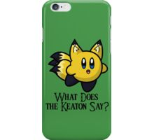 What Does He Say? iPhone Case/Skin