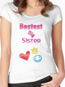 Bestest Big Sister Women's Fitted Scoop T-Shirt