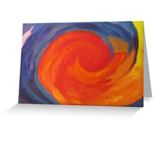 Painting With Waves Greeting Card