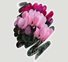 Pink Cyclamen ~ A Living Decoration Womens Fitted T-Shirt