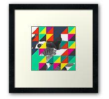 Pixel Color Party Framed Print